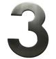 SÜDMETALL Hausnummer, 3, Silber, Edelstahl, 11,7 x 17 x 1,8 cm-Thumbnail