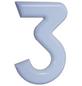 SÜDMETALL Hausnummer, 3, Weiß, Kunststoff, 15,7 x 22,7 x 1,8 cm-Thumbnail