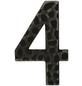 SÜDMETALL Hausnummer, 4, Schwarz, Eisen, 11,7 x 17 x 1,8 cm-Thumbnail