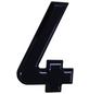 SÜDMETALL Hausnummer, 4, Schwarz, Kunststoff, 15,7 x 22,7 x 1,8 cm-Thumbnail