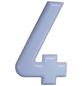 SÜDMETALL Hausnummer, 4, Weiß, Kunststoff, 15,7 x 22,7 x 1,8 cm-Thumbnail