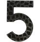 SÜDMETALL Hausnummer, 5, Schwarz, Eisen, 11,7 x 17 x 1,8 cm-Thumbnail