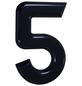 SÜDMETALL Hausnummer, 5, Schwarz, Kunststoff, 15,7 x 22,7 x 1,8 cm-Thumbnail