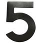 SÜDMETALL Hausnummer, 5, Silber, Edelstahl, 11,7 x 17 x 1,8 cm-Thumbnail