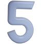 SÜDMETALL Hausnummer, 5, Weiß, Kunststoff, 15,7 x 22,7 x 1,8 cm-Thumbnail