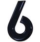 SÜDMETALL Hausnummer, 6, Schwarz, Kunststoff, 15,7 x 22,7 x 1,8 cm-Thumbnail