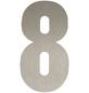 SÜDMETALL Hausnummer, 8, Silber, Edelstahl, 15,7 x 22,7 x 1,8 cm-Thumbnail