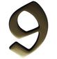 SÜDMETALL Hausnummer, 9, Braun, Messing, 11,7 x 17 x 1,8 cm-Thumbnail
