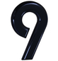 SÜDMETALL Hausnummer, 9, Schwarz, Kunststoff, 15,7 x 22,7 x 1,8 cm-Thumbnail