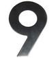 SÜDMETALL Hausnummer, 9, Silber, Edelstahl, 11,7 x 17 x 1,8 cm-Thumbnail