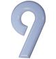 SÜDMETALL Hausnummer, 9, Weiß, Kunststoff, 15,7 x 22,7 x 1,8 cm-Thumbnail