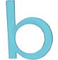 SÜDMETALL Hausnummer, b, Weiß, Kunststoff, 9,7 x 18 x 0,4 cm, nachtleuchtend-Thumbnail
