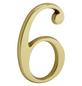 ANSAPRO Hausnummer Nr. 6, goldfarben-Thumbnail