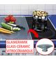 WENKO Herdabdeckplatte »Gewürze«, BxHxL: 3 x 2 x 52 cm, Glas, rot/braun-Thumbnail