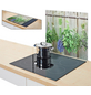 ZELLER Herdblende-/Abdeckplatte, mit Rutschfeste Silikonfüße, Glas-Thumbnail