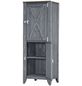 Hochschrank »Typ 564«, für Outdoorküche, Holz, hellgrau, 2 Fachböden-Thumbnail