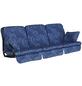 ANGERER FREIZEITMÖBEL Hollywoodschaukelauflage »Comfort«, Abstrakt, blau, 56 cm x 180 cm-Thumbnail