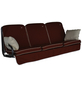 ANGERER FREIZEITMÖBEL Hollywoodschaukelauflage »Comfort Style«, Uni, terracotta, 56 cm x 180 cm-Thumbnail