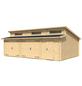 LASITA MAJA Holzgarage »Hawaii«, BxT: 780cm x 580cm (Außenmaße ohne Dachüberstand)-Thumbnail