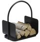 ALPERTEC Holzkorb, schwarz/silberfarben, geeignet für Holzscheite-Thumbnail
