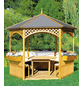 PROMADINO Holzpavillon, B x T: 326 x 326 cm-Thumbnail