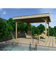 WOLFF Holzpavillon »Elba«, flach, quadratisch, BxT: 304 x 304 cm, inkl. Dacheindeckung-Thumbnail