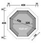 WOLFF Holzpavillon »Kreta 8 XL«, achteckig, achteckig, BxT: 406 x 406 cm-Thumbnail