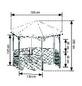 PROMADINO Holzpavillon »Palma«, sechseckig, BxT: 308 x 308 cm-Thumbnail