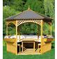 PROMADINO Holzpavillon »Palma«, sechseckig, BxT: 326 x 326 cm, inkl. Dacheindeckung-Thumbnail