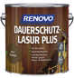 RENOVO Holzschutz-Lasur »PLUS«, für außen, 4 l, Kastanie-Thumbnail