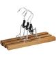 WENKO Hosenklemmbügel, BxHxL: 25 x 16,5 x 2,2 cm, Holz, braun-Thumbnail