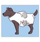 Hundebekleidung, Größe: Gr. 30  cm, Polyacryl, blau-Thumbnail