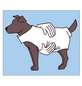 Hundebekleidung, Größe: Gr. 30  cm, Polyacryl, grau-Thumbnail