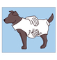 Hundebekleidung, schwarz-Thumbnail