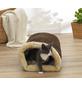 Hundebett und Katzenbett, braun/beige-Thumbnail