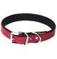 Hundehalsband, Größe: 30  cm, Rindsleder, rot/schwarz-Thumbnail