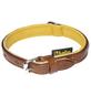 Hundehalsband, Größe: 35  cm, Rindsleder, natur/braun-Thumbnail