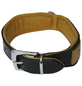 Hundehalsband, Größe: 45  cm, Rindsleder, gruen/cognacfarben-Thumbnail