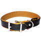 Hundehalsband, Größe: 50  cm, Rindsleder, schwarz/cognacfarben-Thumbnail