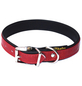 Hundehalsband, Größe: 55  cm, Rindsleder, rot/schwarz-Thumbnail