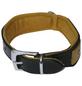 Hundehalsband, Größe: 60  cm, Rindsleder, gruen/cognacfarben-Thumbnail