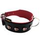 Hundehalsband, Größe: 60  cm, Rindsleder, rot/schwarz-Thumbnail