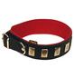 Hundehalsband »Modern Art«, Größe: 65  cm, Rindsleder, schwarz-Thumbnail