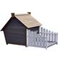 DOBAR Hundehütte, für Hunde, Hemlockholz, grau/braun/weiß-Thumbnail