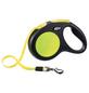 flexi Hundeleine, New Neon, 5 M, Kunststoff | Metall, Schwarz | Neongelb-Thumbnail