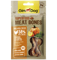 GIMDOG Hundesnack »Meat Bones«, Huhn  /  Kürbis, 8x70 g-Thumbnail