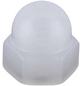 CONNEX Hutmuttern, M4, Weiß, Polyamid-Thumbnail