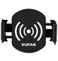 EUFAB Induktionsladegerät mit Handyhalter, LxBxH: 9,5 x 6,5 x 7,8 cm, Schwarz-Thumbnail