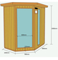 HOME DELUXE Infrarotkabine aus Hemlockholz, für 3 Personen-Thumbnail