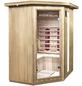 HOME DELUXE Infrarotkabine »Redsun XL« für 3 Personen, Eckeinstieg, mit Farblichtanwendung-Thumbnail